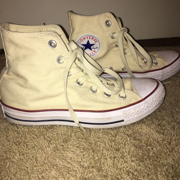 048142109350af Converse Shoes - Converse high tops light yellow